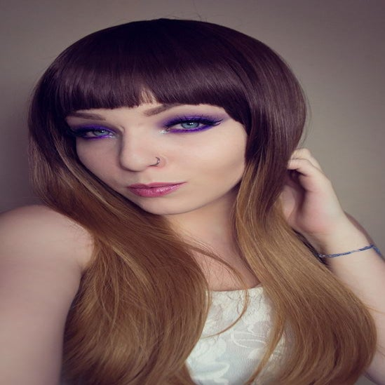 Image of Autumn Oak, Brown Ombre Dip Dye Gradient Natural Gothic Lolita Cosplay Wig