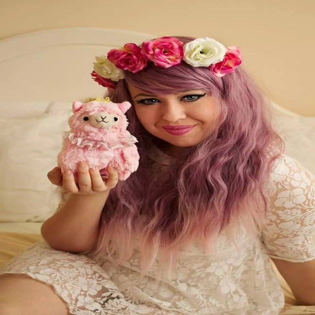 Image of Berry Cooler, Purple Lilac Pink Dip Dye Gradient Ombre Crimped Waves Gothic Lolita Cosplay Wig