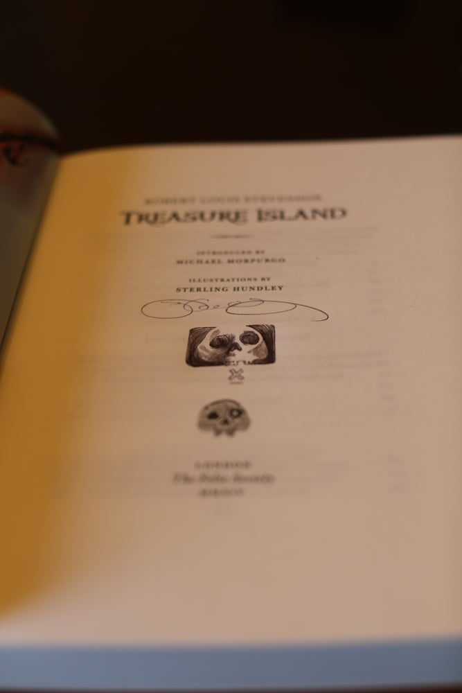 Image of Treasure Island, signed by Sterling Hundley with original drawing