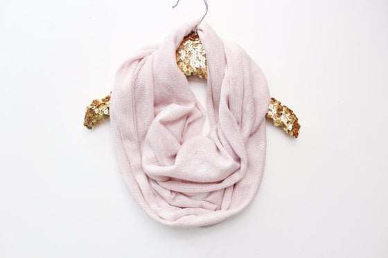 Image of Silver Sparkle Pink Infinity Scarf