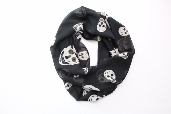 Image of Skull Print Infinity Scarf for Babies and Toddlers