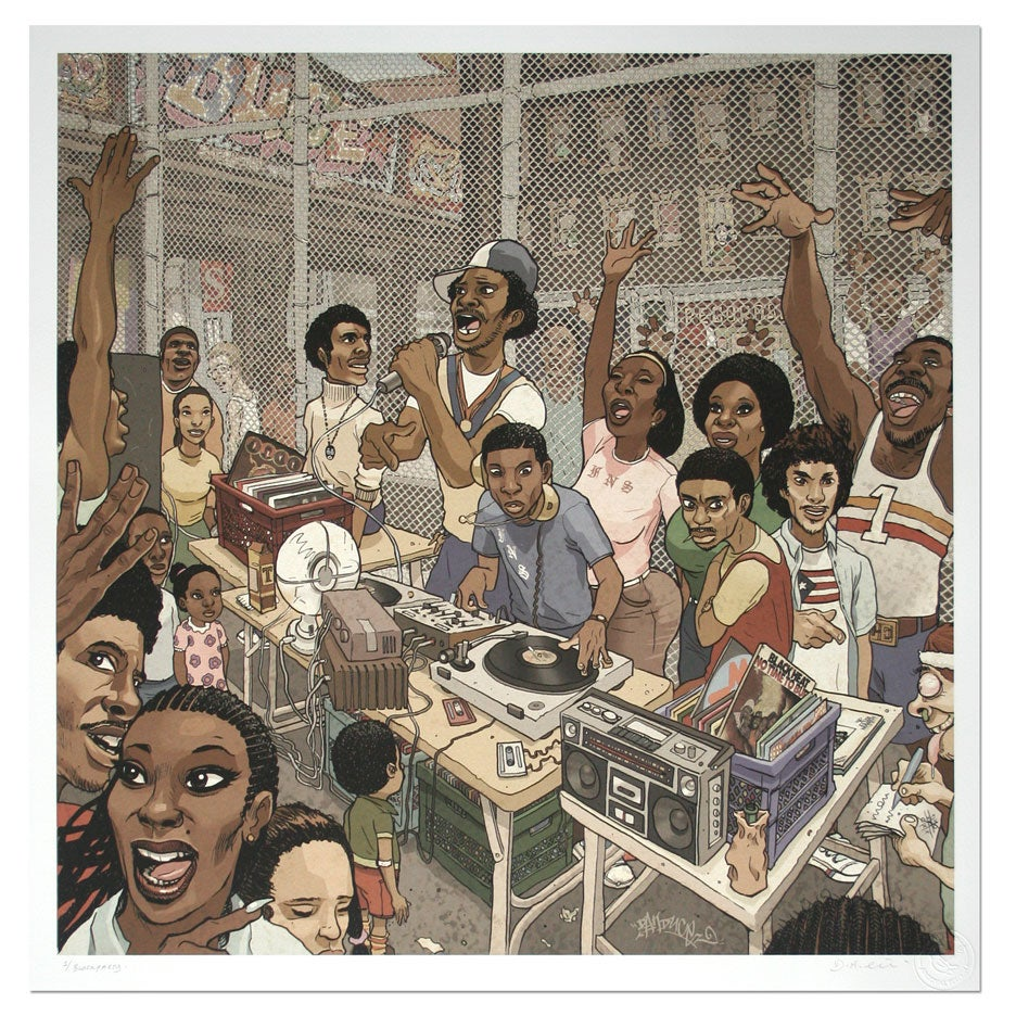 Image of Block Party - Limited Edition Giclee Print