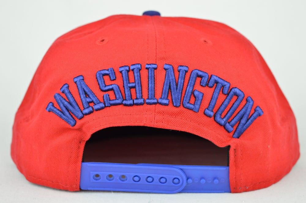 Image of Washington Capitals Red/Blue/White New Era Snapback Cap