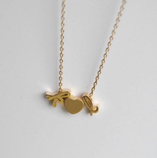 Image of Cursive/Script Sweet Heart Necklace