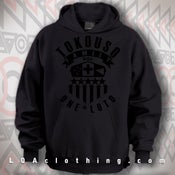 Image of TOKOUSO - ONE LOTO - HOODIE-BLACK ON BLACK