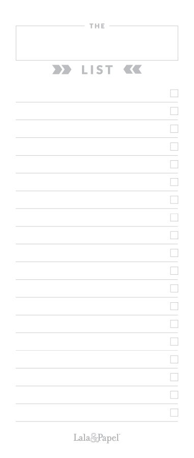 Image of My Favorite List Jotter