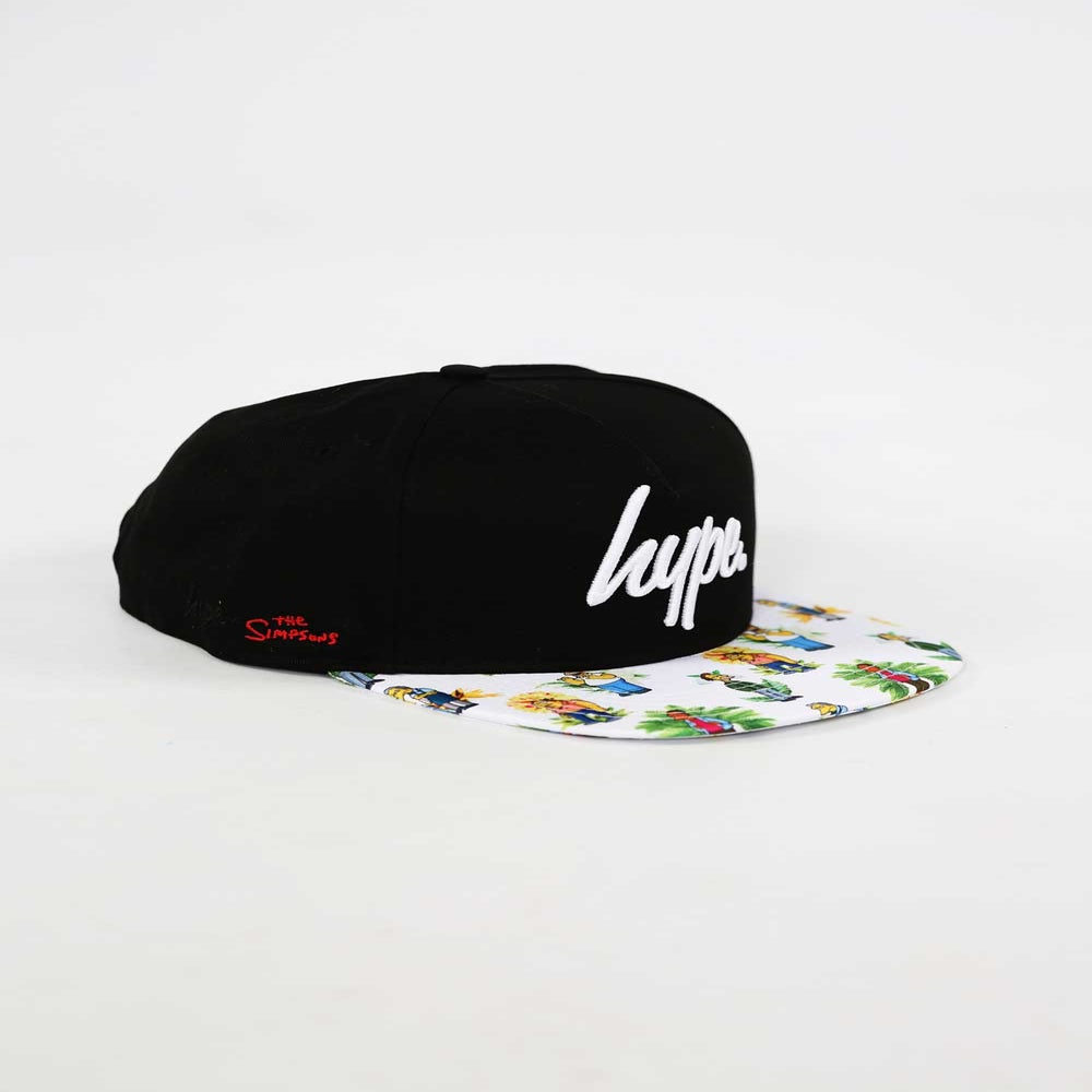 Image of HYPE X SIMPSONS. BAR BOYS FLORAL SNAPBACK
