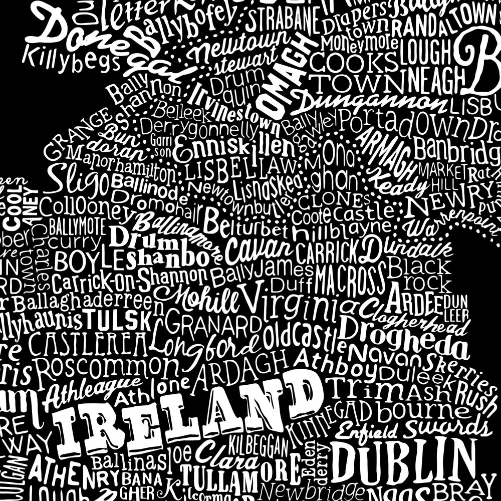 Image of Ireland Type Map (Black, 2014)