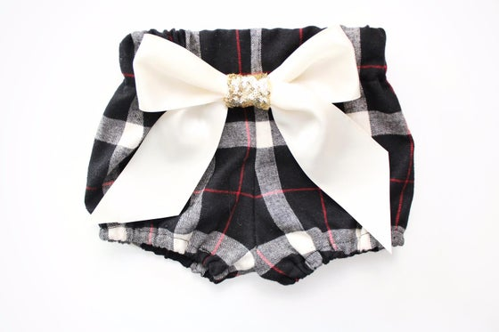 Image of Gorgeous Gold Sequin Bow Plaid High Waist Bloomers