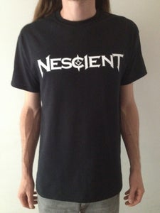 Image of Nescient White Logo T-Shirt