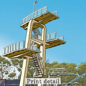 Image of Lambton Pool Digital Print