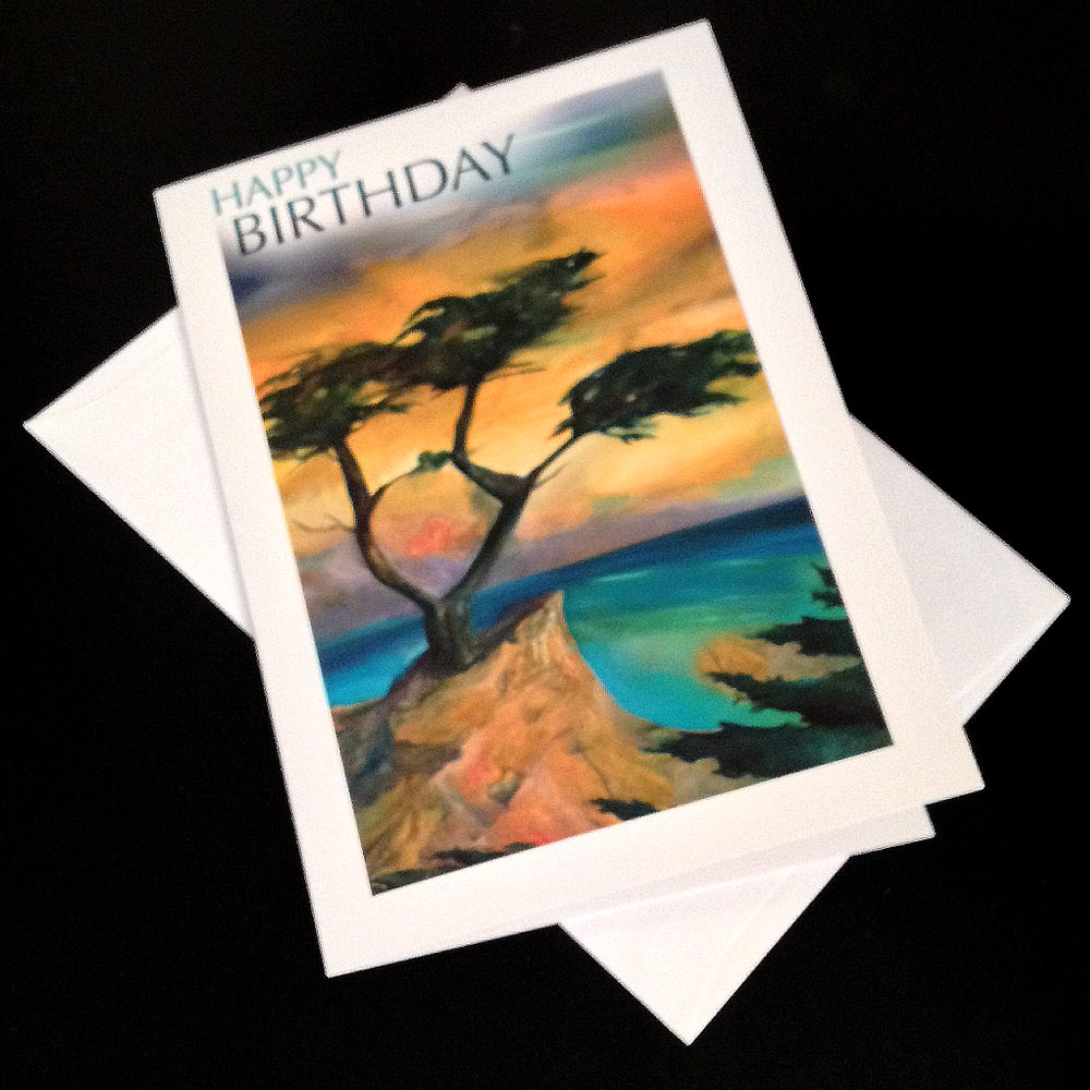 Image of Happy Birthday Cypress 5-Card Greeting Card Set