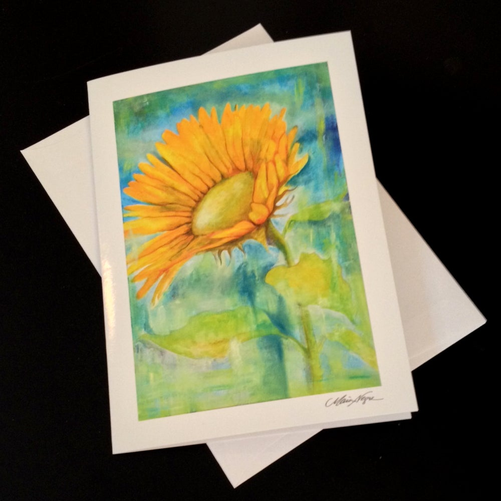 Image of Sunflower 5-Pack Greeting Card Set