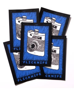 """Image of Flicknife """"Shoot From The Hip"""" Sticker - 5 Pack"""