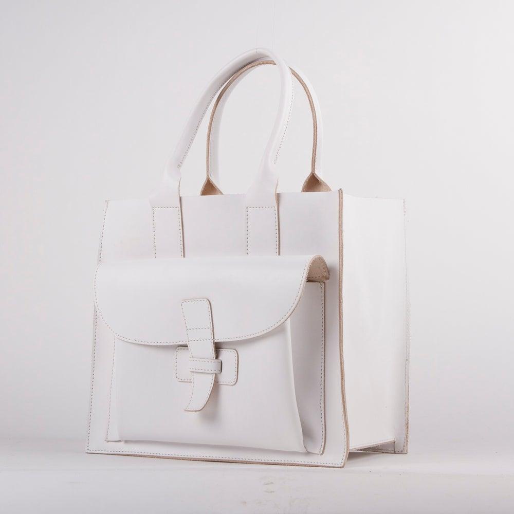 Image of Sac 1 / White Italian Leather