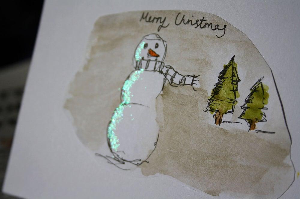 Image of Snowman Christmas Card