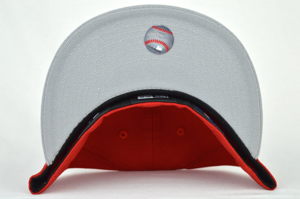 Image of TORONTO BLUE JAYS RED/GRY/WHT NEW ERA 5950 FITTED CAP