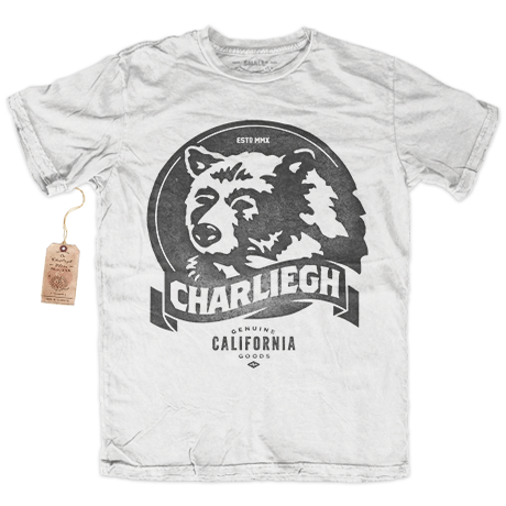 Image of CA-BEAR - WHITE - RINGSPUN COTTON CREW NECK T-SHIRT
