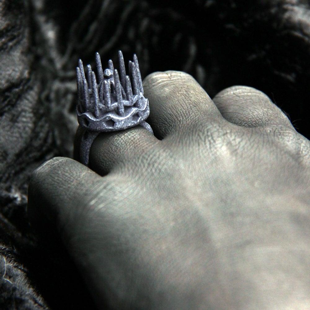 Image of 3D printed ring CROWN.1