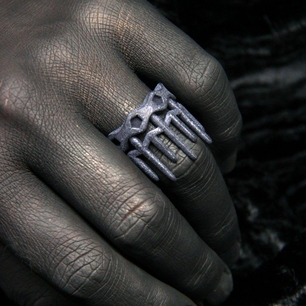 Image of 3D printed ring CROWN.2