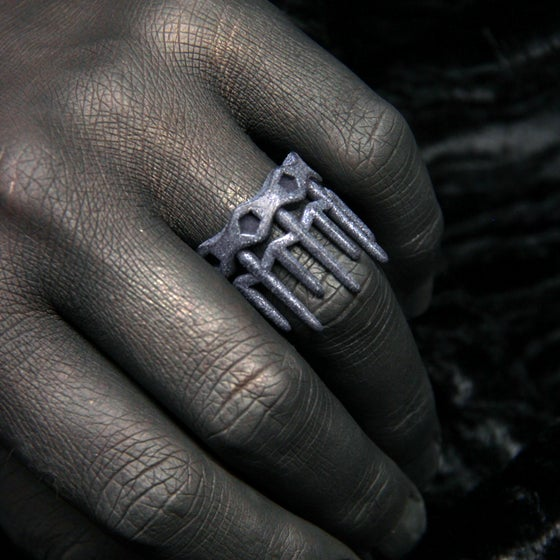 Image of 3D printed ring CROWN.2