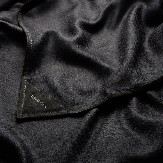 Image of Cashmere Scarf Black (100 x 200)