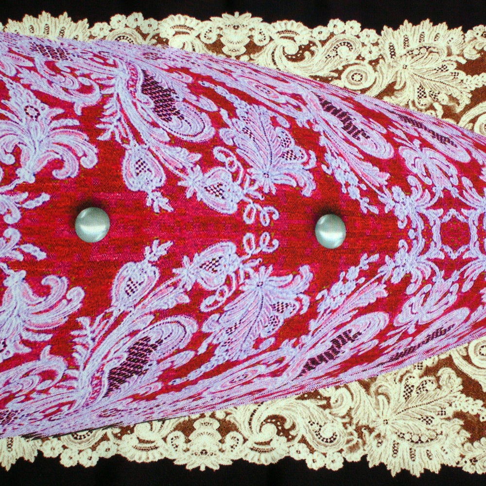 Image of Digitally printed silk scarf Pearls