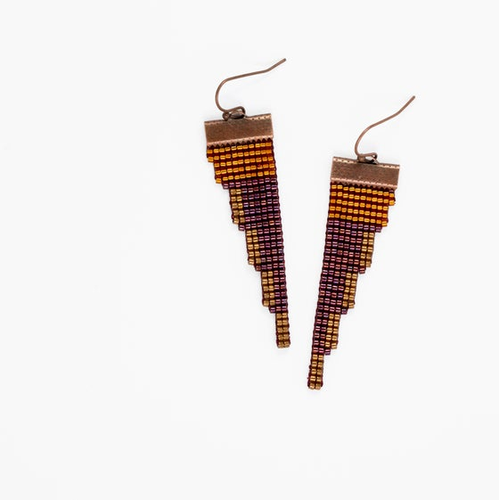 Image of Teton // Loom-beaded Earrings