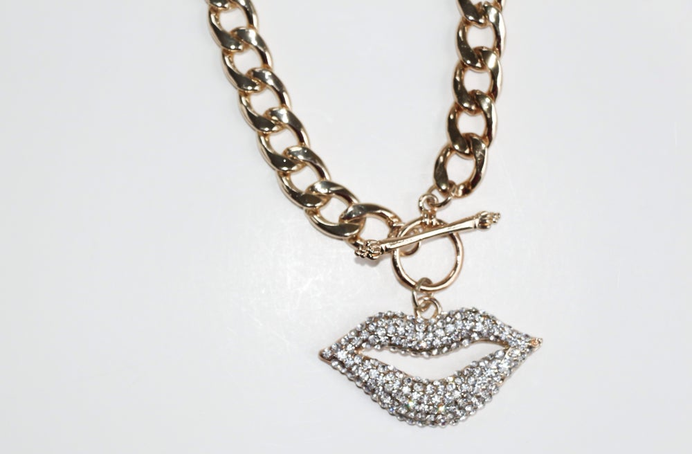 Image of Silver Lippie Necklace