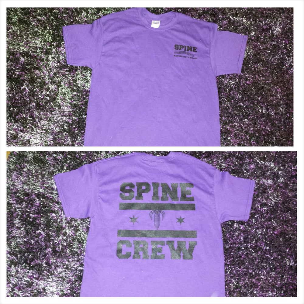 Image of SPINE CREW - PURPLE/BLACK