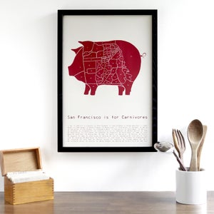 San Francisco is For Carnivores by Alyson Thomas of Drywell Art. Available at shop.drywellart.com