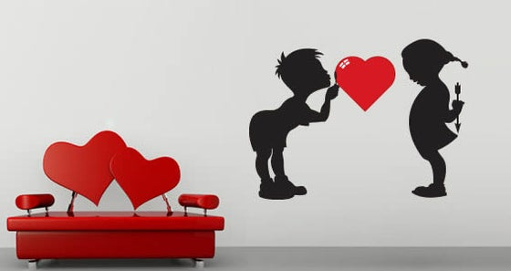 Image of Love&Hate for Dezign With a Z - Wall Decals
