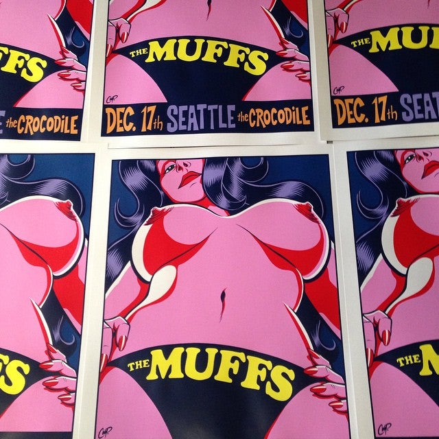 Image of THE MUFFS silkscreen print