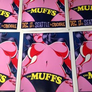 Image of THE MUFFS silkscreen print