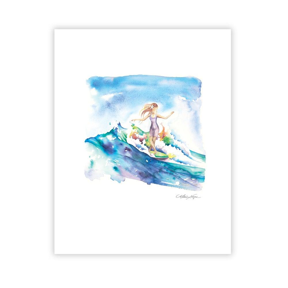 Image of Surfer Girl, Archival Paper Print