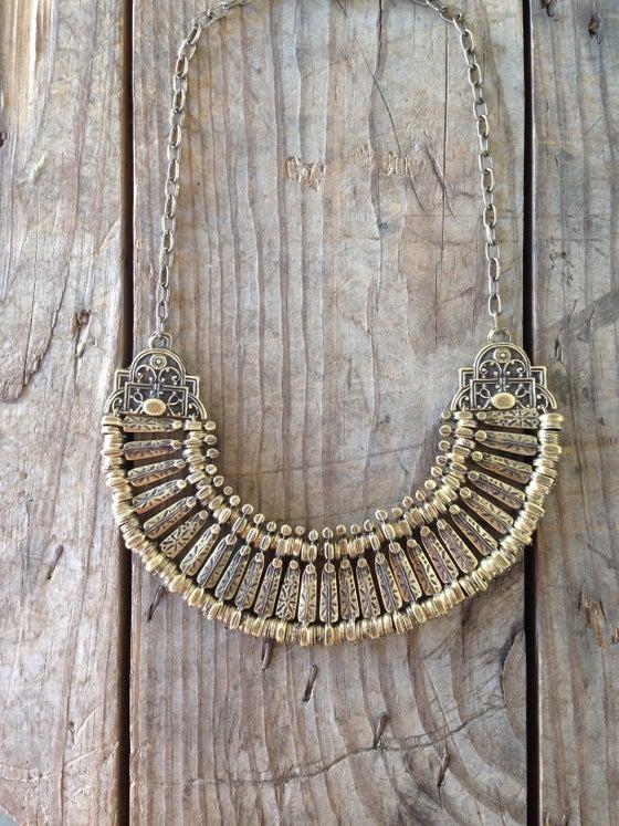 Image of Brass Bib Necklace