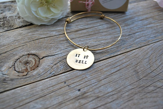Image of It Is Well Bangle Bracelet
