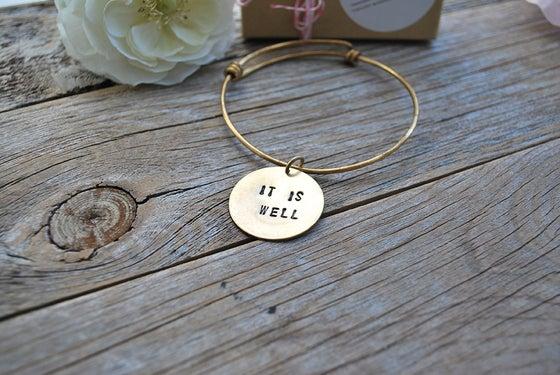 Image of It Is Well Bangle Bracelet