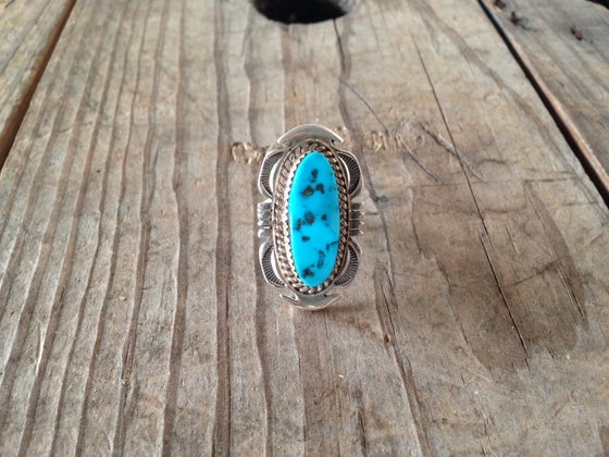 Image of Vintage Turquoise Flower Ring
