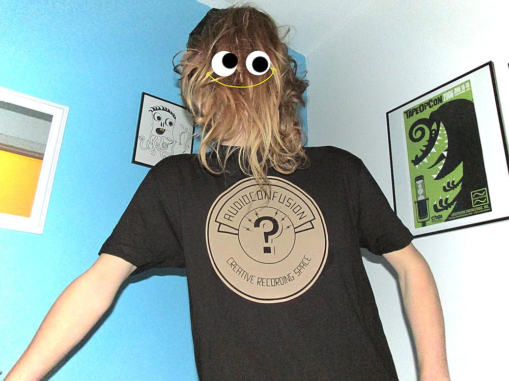 Image of Audioconfusion New Logo shirt (coffee on black)