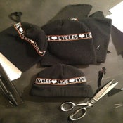 Image of love cycles knit beanies BLACK