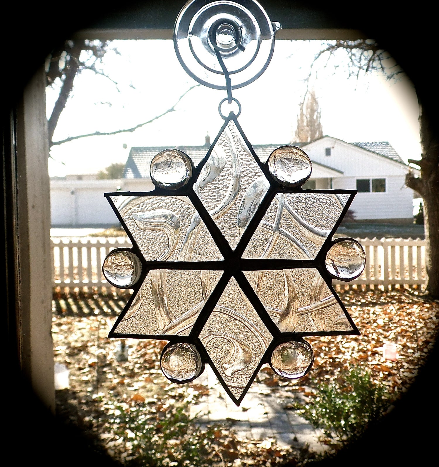 Image of Snowflake Set-Christmas stained glass