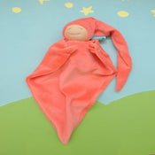 Image of Velour Blanket Doll - Coral/light skin
