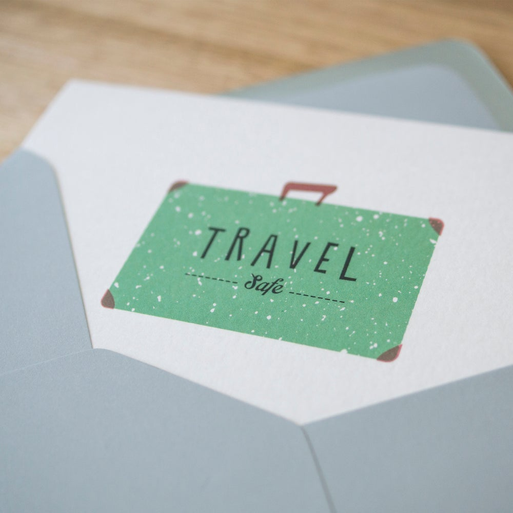 Image of Travel Safe Greeting Card