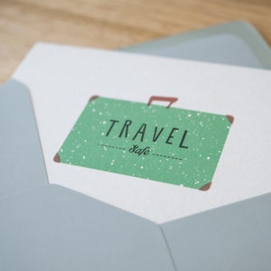 Image of Travel Safe Greeting Card