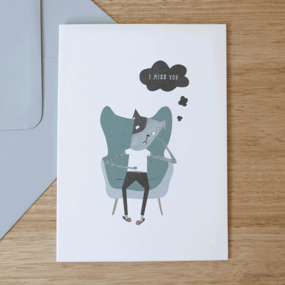 Image of Missing You Greeting Card