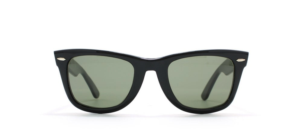 Image of SOLD OUT Vintage ORIGINAL BAUSCH AND LOMB Authentic Rayban Wayfarer 2 Black Sunglasses 140mm NOS