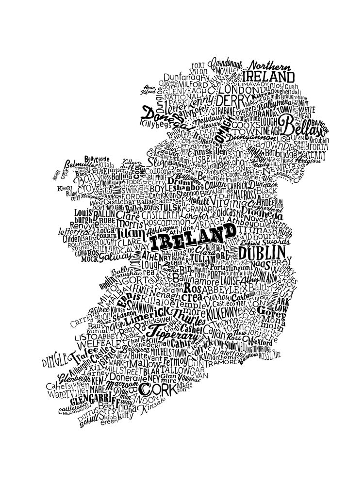 Image of Ireland Type Map (White, 2014)