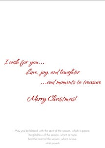 Image of I Wish for You Christmas card 10-Pack