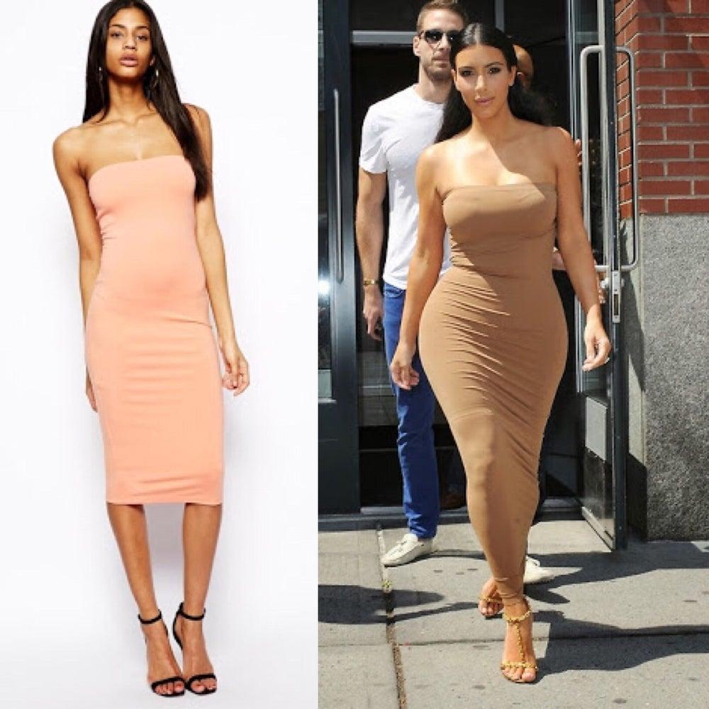 Image of Nude Tube Dress